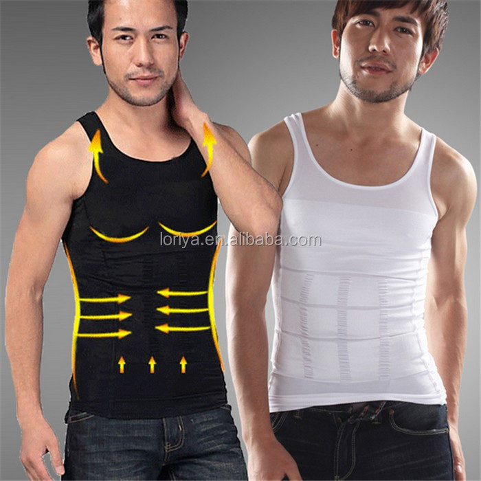 Hot sale body shaper sleeveless vest sexy man undershirt