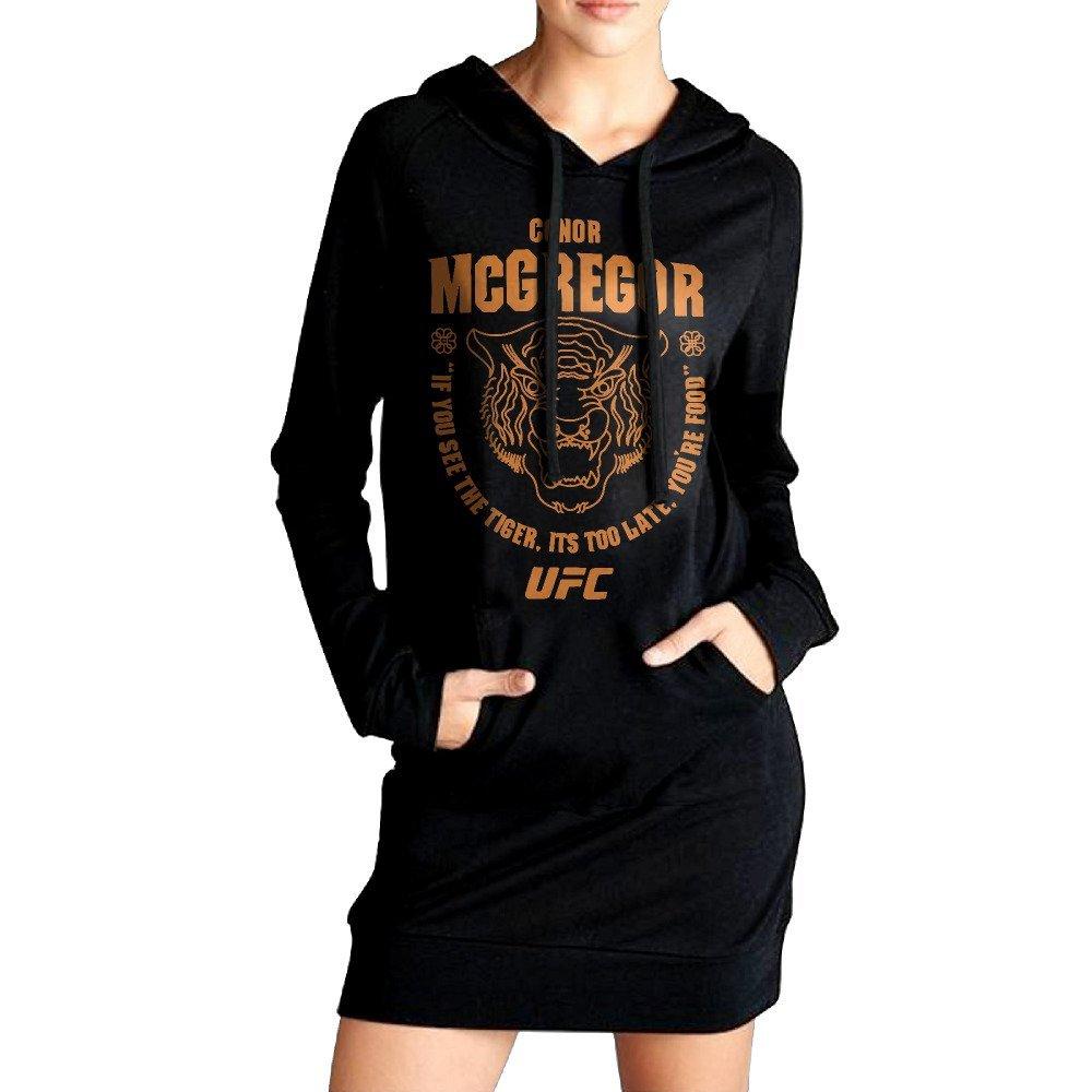 Women Conor McGregor UFC 202 Tiger Food Long Hoodie Sweatshirt