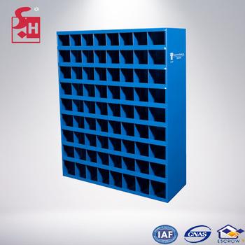 Metal Storage Bolt Bin Bule Red 72 Hole Bin 40 Hole Cabinet For