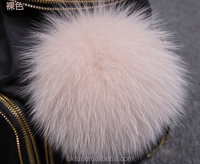 Factory wholesale colorful fox fur pompon/fox fur pom poms
