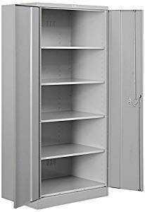Salsbury Industries Heavy Duty Assembled Storage Cabinet, 78-Inch High by 24-Inch Deep, Gray