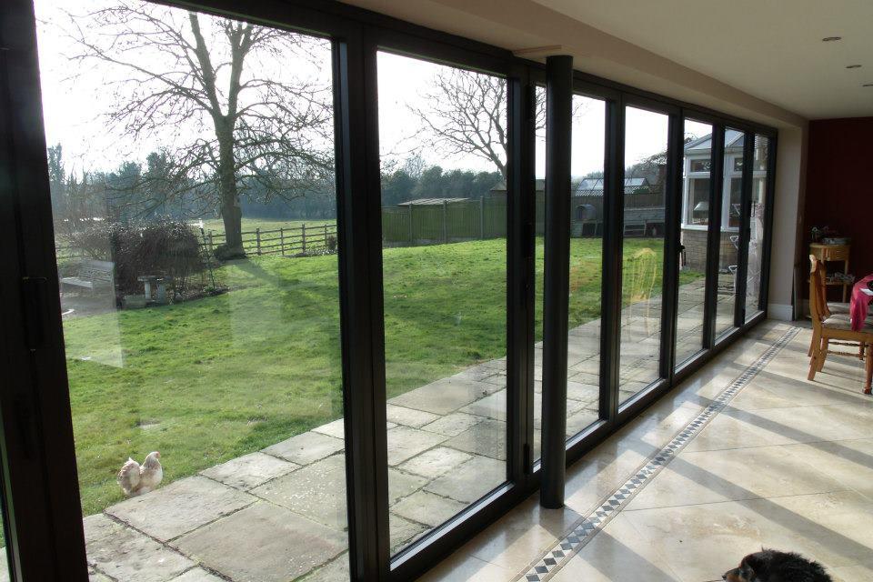Large Aluminum Sliding Window With Four Panels