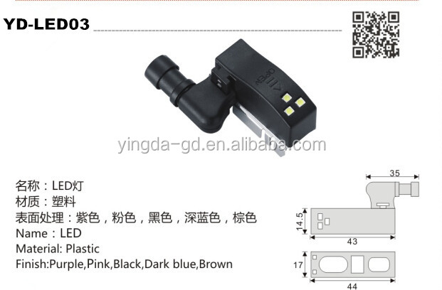 Led Light For Hydraulic Hinge With Battery Press Function From ...