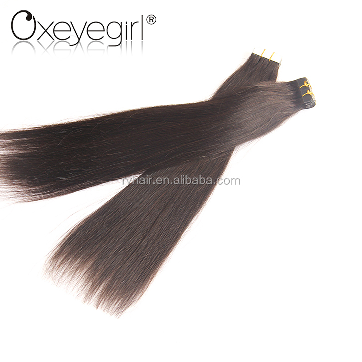 New arrival virgin human double drawn tape hair extensions
