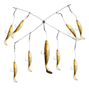 Spread Bar Soft Plastic Fishing Lure Trolling Lure Shad Umbrella Arm Rig