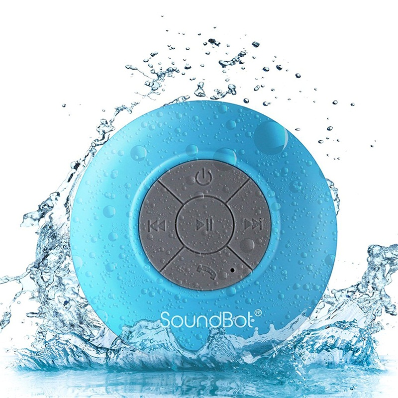Handsfree Portable HD Water Resistant Shower Speaker with Built-in Mic