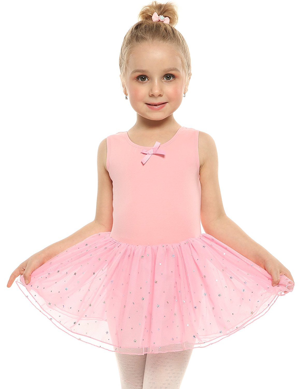 418dba6066143 Get Quotations · Arshiner Girl's Dance Dress Classic Leotard Camisole Tutu  Dress