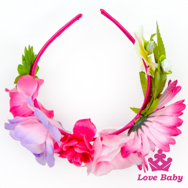 Fashion Baby Garland Elastic Sunflower Floral Flower Infant Wedding Princess Kids Hair Accessories Hairband