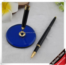 hot sale Bank table desk pen customized logo on pen or pen base made of metal
