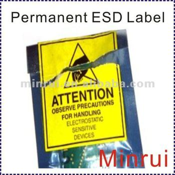 Esd Warning Tape Ultra Destructible Vinyl Labels Buy Esd