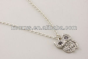 Rhodium crystal owl Brighton jewelry