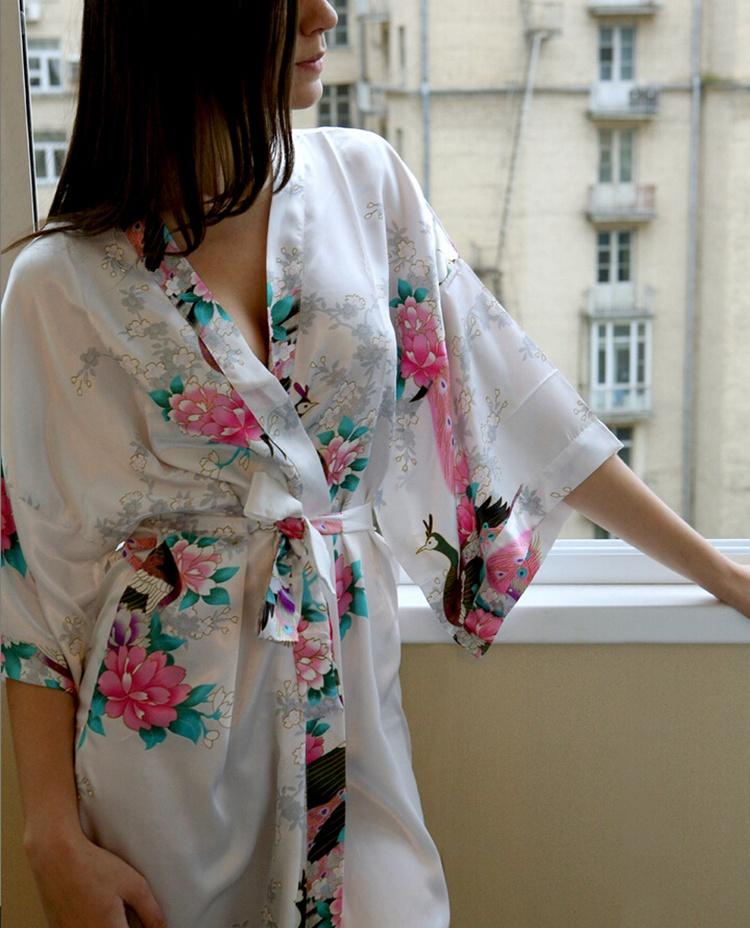 2019 Wholesale New Silk Wedding Robes Bathrobe Women Silk