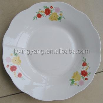 white wavy dinner plates/ceramic 7/8/9 inch 3 flower plates dishes & White Wavy Dinner Plates/ceramic 7/8/9 Inch 3 Flower Plates Dishes ...