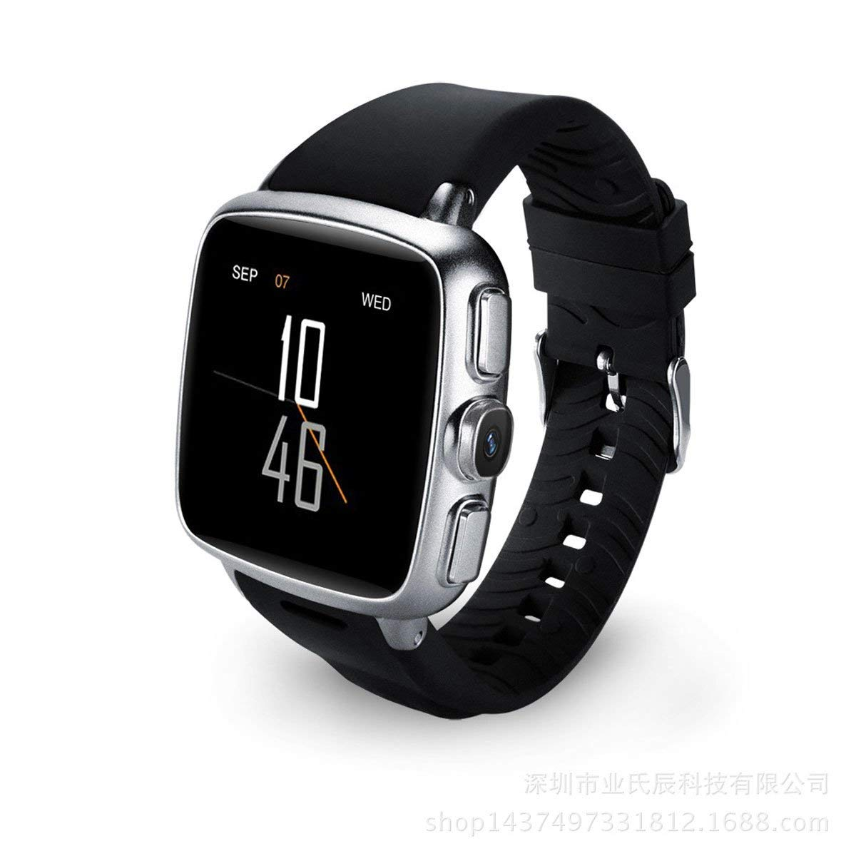 XiYunHan smart watch Andrews WIFI 3G GPS positioning Smart wear camera Heart rate monitoring (Color : Silver)