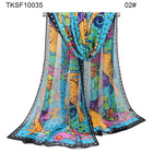 factory OEM new design custom chiffon scarf for girls beautiful hijab for women 10035