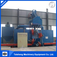 Factory supply steel pipe outer wall shot blasting machine