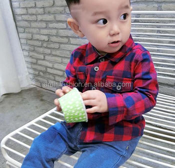 b443cd27 Infant Toddler Red Black Yellow Cotton Plaid Flannels Shirts - Buy ...