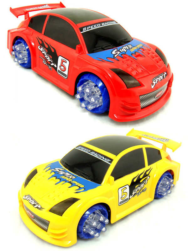 360 rotating kid plastic racing battery operated car toy for kids