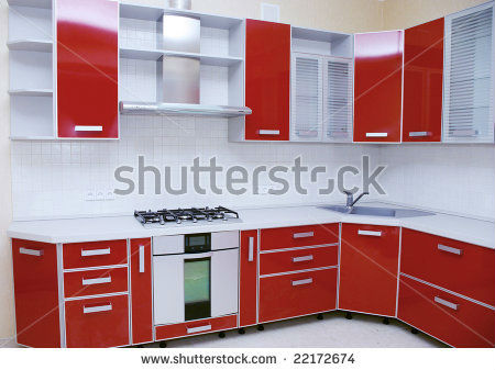 High Gloss Pvc Doors Kitchen Cabinets Meubles De Cuisine