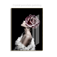 made in China handmade sexy beautiful woman Crystal paintings glass painting