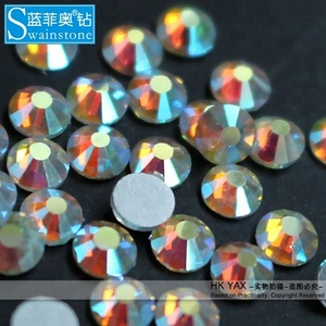 T0810 5mm 20SS 1440pcs flat back clear ab crystal ab stone iron on Rhinestones for shoes or clothing or bag,transfer strass