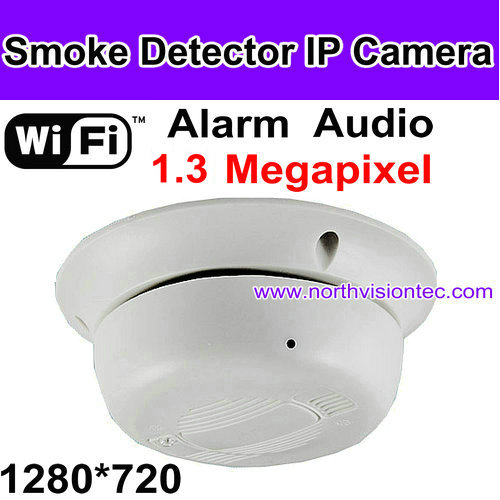 WIFI IP Smoke detector camera, Control it anywhere, APP for phone&PC Software