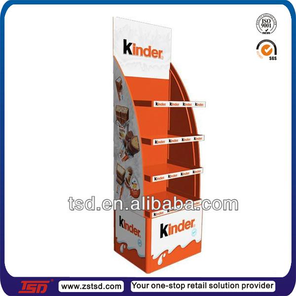 Tsd c322 Custom Retail Store Floor Cardboard Biscuits Display Shelfcake Pops Stand