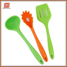 High quality silicone kitchen utensil ,slotted spatula,spoon,spaghetti spoon