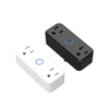 2 sockets wifi smart plug outlet UK AU EU wireless control power dual outlet strips with Alexa Google Home