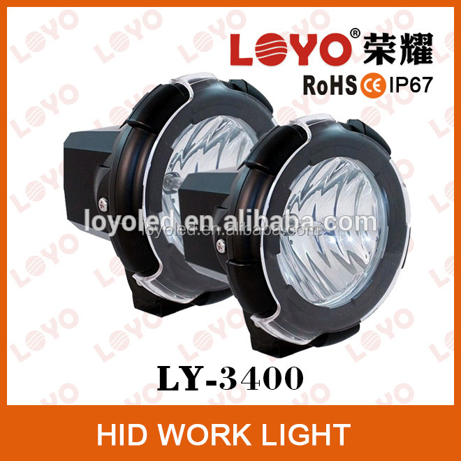 "Wholesale car light Spot 35w 55w 4"" HID xenon working lamp projector for off-road vehicles 12v 32v"