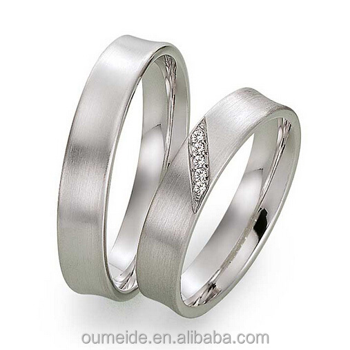 custom design pure titanium wedding rings men and women wedding bands couple love band - Men And Women Wedding Rings
