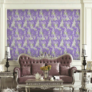 Korea design 3d flower non woven wallpaper beautiful flower wallpaper for living rome decoration