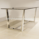 2017 stainless steel dining table designs foshan shunde furniture