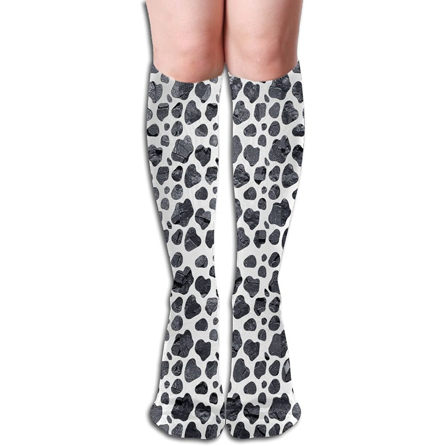 ca00ee750c519 Get Quotations · Cow Dot Cow Lover Gift Unisex Sports Long Knee High Socks  Tube Socks Stockings