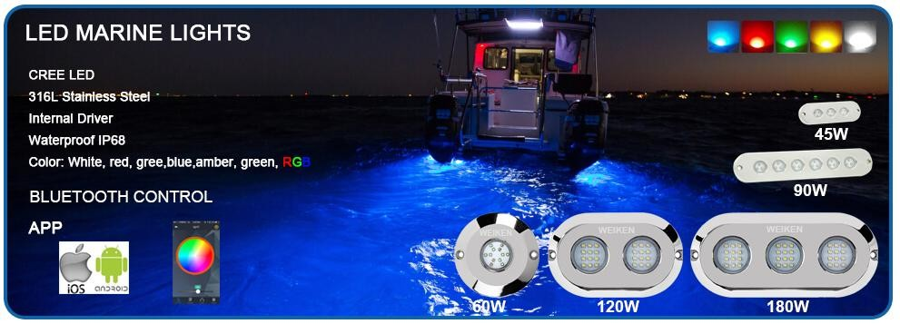 new products rgb ip68 1w 12v under dock lighting swimming pool, Reel Combo