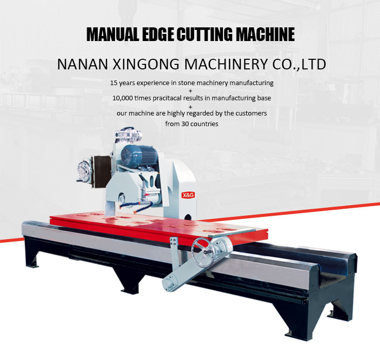 Manual stone slab edge granite cutting machine