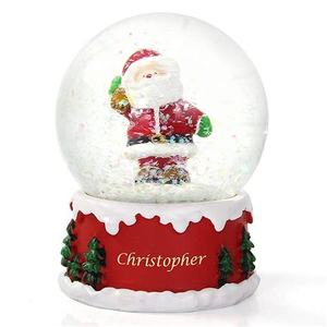 Wholesale polyresin souvenir gifts snow globe resin christmas santa claus water globe