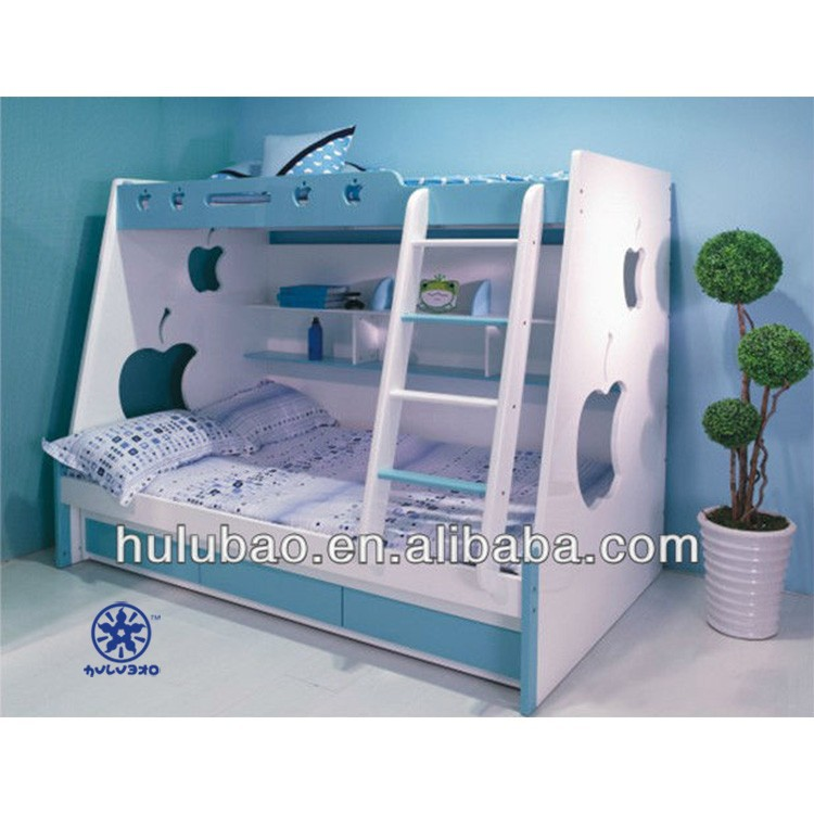 Morden Mdf Bunk Bed With Stairs For Kid. Children Furniture ...