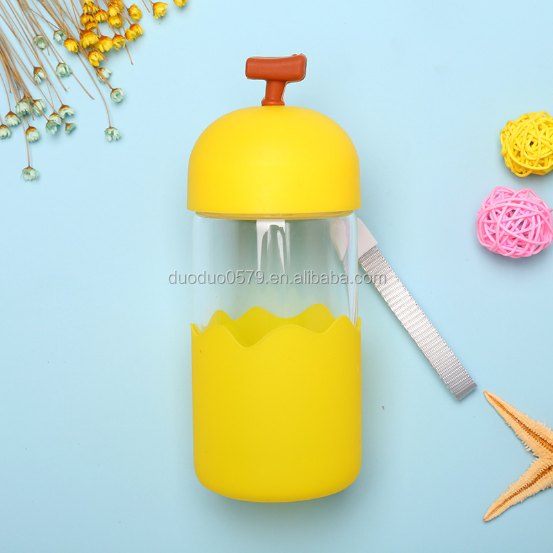 KA014 PP Kid Bickiepeg Baby Cartoon Water Bottle Children Glass Sports Bottle for Promotion