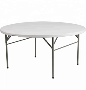 Nice Way Hot Sale 5ft Folding Round Plastic Table Top For Picnic Camping