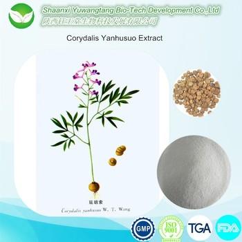 Natural Plant Corydalis Yanhusuo Extract, natural tetrahydropalmatine