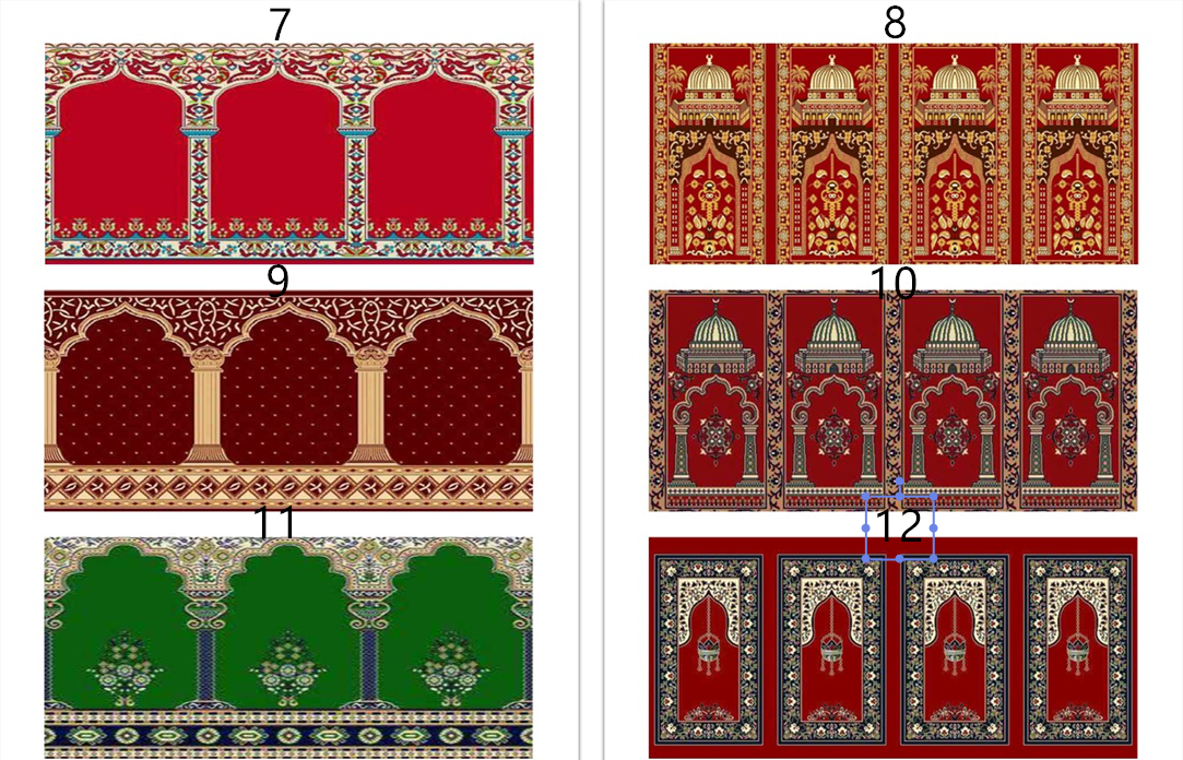 prayer rugs carpet rugs wool red Muslim carpet mosque mat mosque carpet