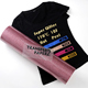 Super Glitter pink color heat transfer vinyl for textiles