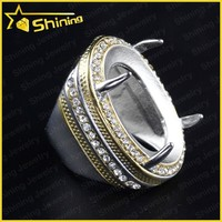 2014 Wholesale Indonesia rings hot sell titanium ring for indonesia gemstone