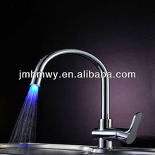 popular brass deck mounted water glow led faucet light