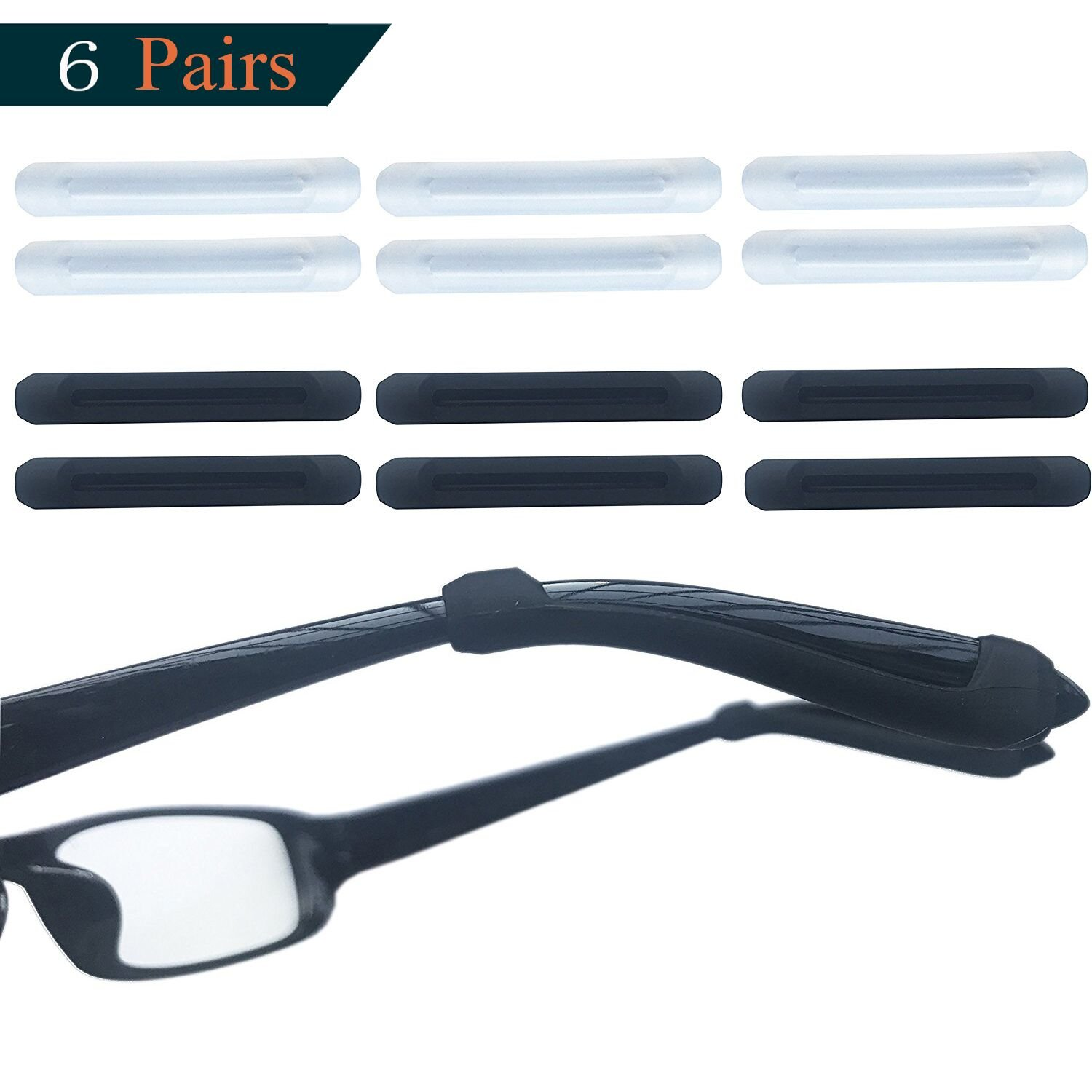 e83cc514560 Get Quotations · MOLDERP 6 Pairs Silicone Glasses Ear Hooks Sport Eyeglass  Strap Holder Temple Tips Spectacle Retainers