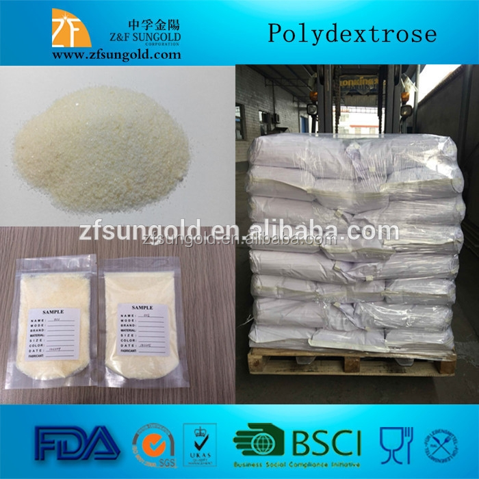 Polydextrose play some important roles in foodstuff, such as taking on necessary size,improving oily mouth feeling of food,etc.