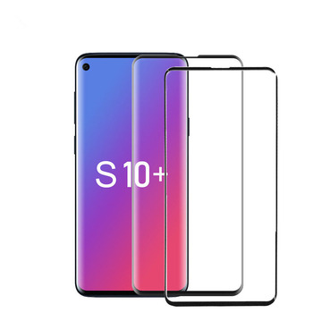 2 packs For Samsung s10 Plus Full Curved Tempered Glass Screen Protector For Samsung Galaxy s10 plus Tempered Glass Screen