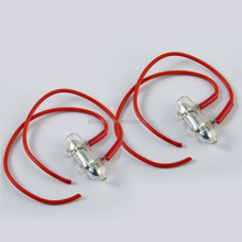High Voltage 220V 2A Two Red Wires Horizontal tilting glass mercury switch for motor