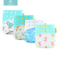 HappyFlute Fashion Design Diapers Cloth Adjustable Eco-Friendly Baby Reusable Cloth Diaper
